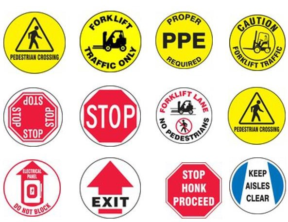 Selection of safety logo options for an LED projector