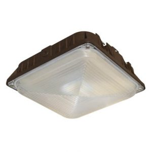 Single LED lighting fixture used for canopy lighting
