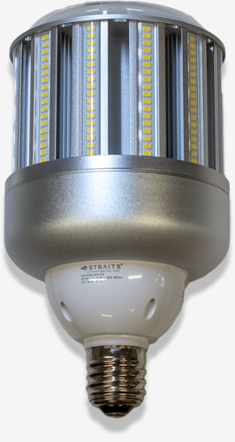 LED corn lamp with multiple rows of surface mount LED chips in a 360 degree pattern